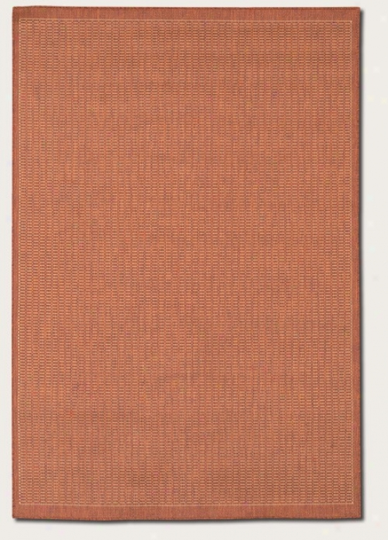 8'6&quot X 13' Are aRug Contemporary Style In Terra-cotta Color