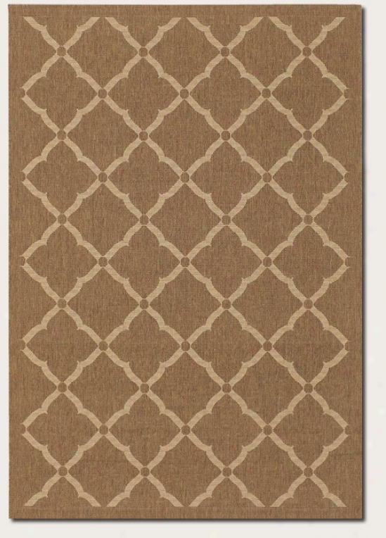 8'6&quot X 13' Area Rug Floral Grid Specimen In Gold And Cream