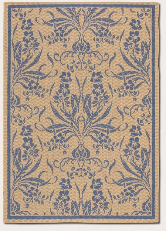 8'6&quot X 13' Area Rug Taprstry Pattern In Blue And Natural