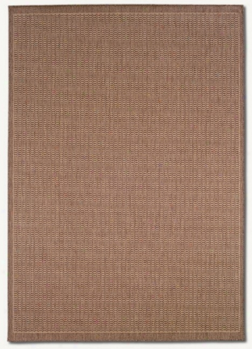 8'6&quot X 13' Saddle Stitch Cocoa Natural Indoor/outdoor Area Rug