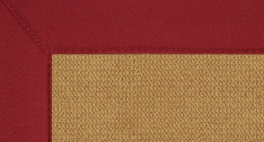 8'9&quot X 12' Cork Wool Rug - Athena Hand Tufted Rug With Red Border