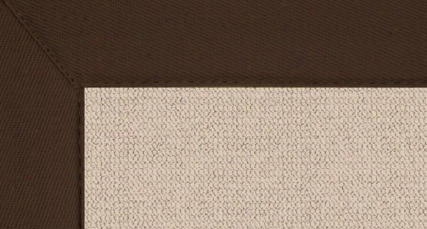 8'9&quot X 12' Natural Wool Rug - Athena HandT ufted Rug With Brown Bord3r