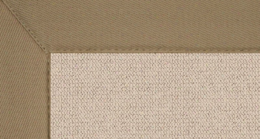 8'9&quot X 12' Natural Wool Rug - Athena Hand Tufted Rug With Beige Border