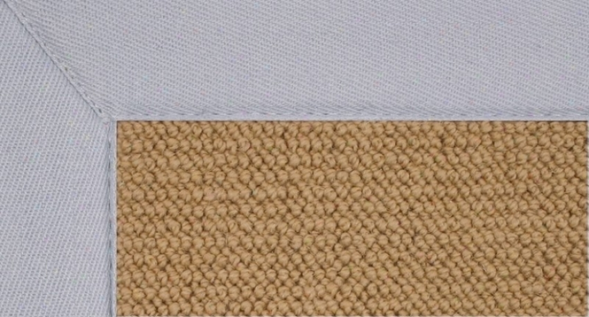 8'9&quot X 12' Sisal Wool Rug - Athena Hand Tufted Rug With Ice Blue Border