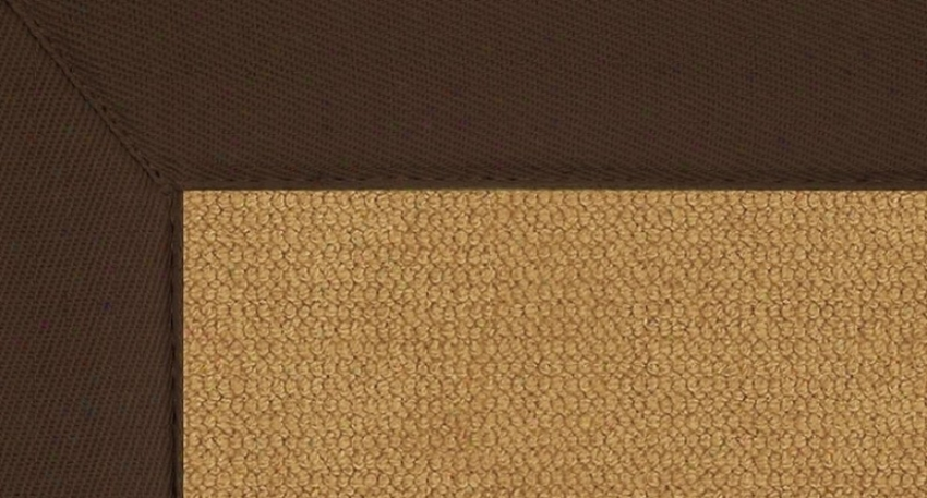 9'10&quot X 13' Cork Wool Rug - Athena Hand Tufted Rug With Brown Border