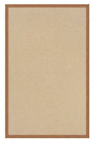 9'10&quot X 13' Hand Tufted Yard Ruug In Natural With Gold Border