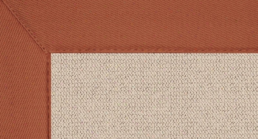 9'10&quot X 13' Natural Wool Rug - Athena Hand Tufted Rug With Burnt Orange Border