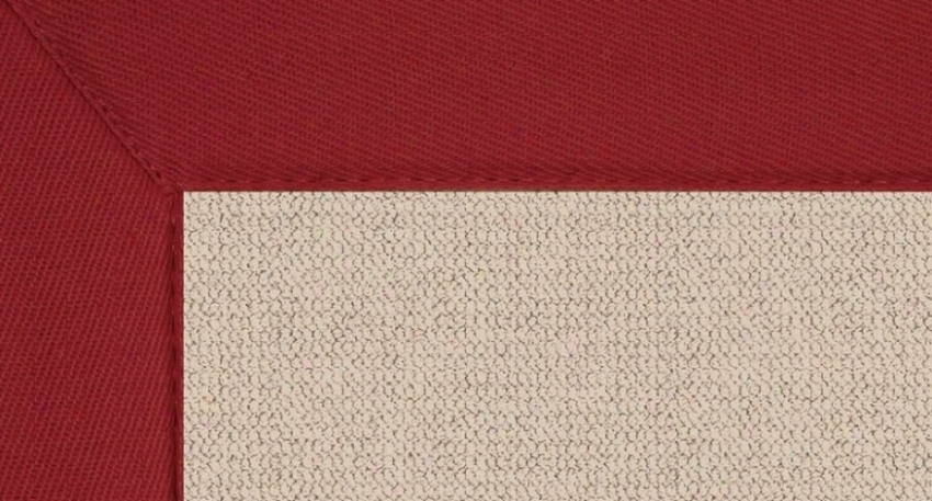9'10&quot X 13' Natural Wool Rug - Athena Hand Tufted Rhg With Red Edge