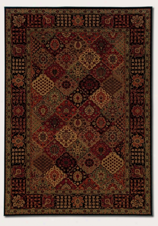 9'2&quot X 12'5&quot Area Rug Classic Persian Pattern In Burgundy