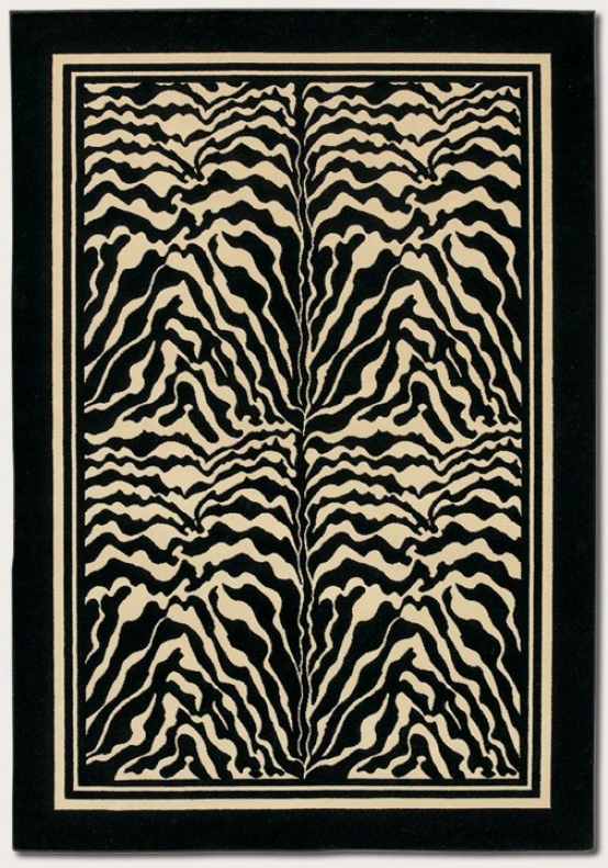 9'2&quo X 12'5&quot Area Rug Zebra Print With Black Put a ~ upon