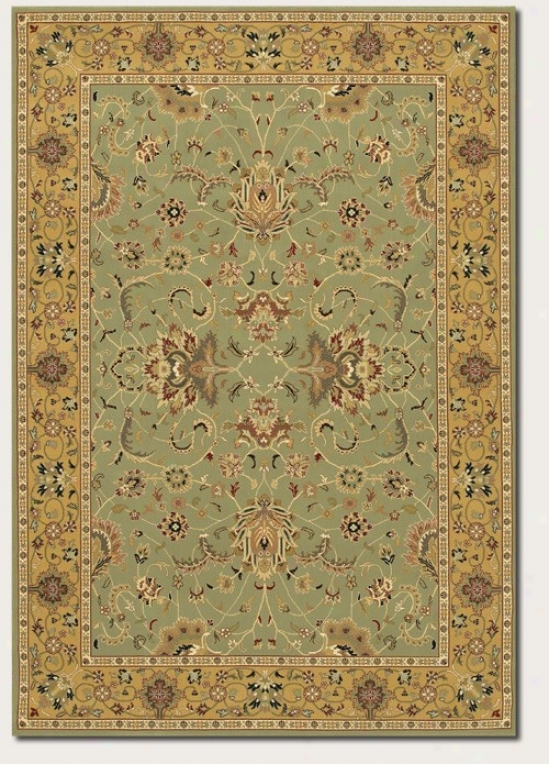 9'2&quot X 12'6&quot Area Rug First-rate work  Prrsian Pattern In Sage