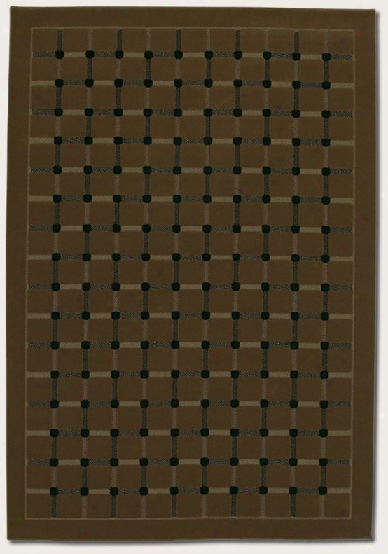9'2&quot X 12'6&quot Area Rug Grid Pattern In Coffeee Color