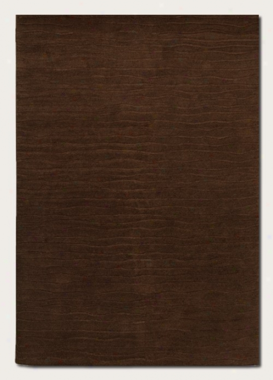9'6&quot X 13' Arda Rug Hand Crafted Contempo5ary Style In Chocolate
