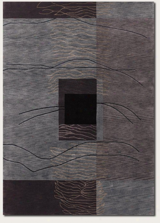 9'6&quot X 13' Area Rug Hand Knotted Contemporary Style In Grey