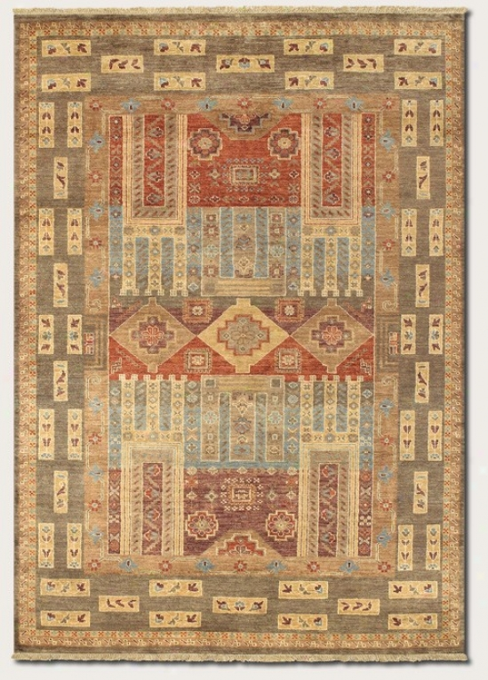9'6&quot X 13'6&quot Area Rug Classic Persian Pattern In Olive Color
