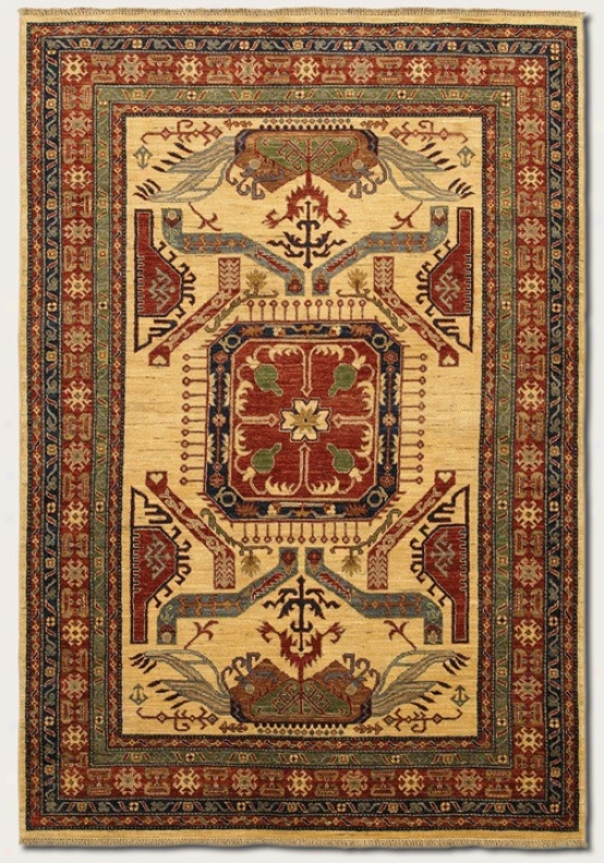9'6&quot X 13'6&quot Area Rug Classic Persian Pattern In Camel Color