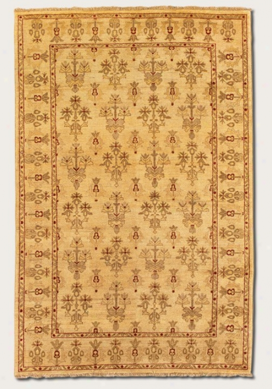 9'6&quot X 13'6&quot Area Rug Eco-friendly Vintage Patttern In Crã¸me
