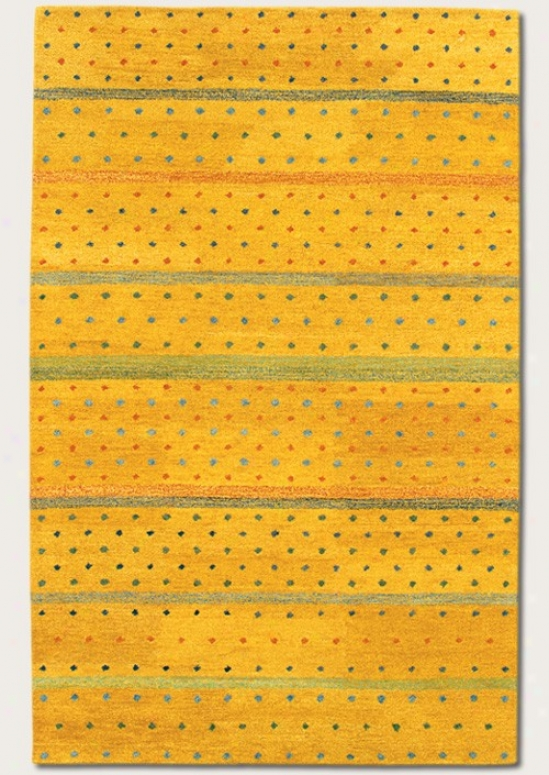 9'6&quot X 13'6&quot Area Rug Stripe dPattern In Sunflower Yellow Color