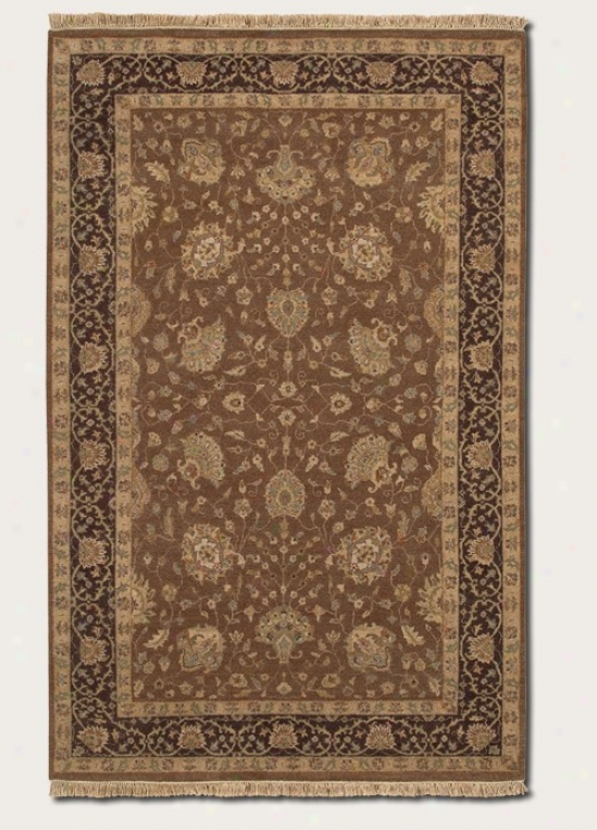 9'6&quot X 13'9&quot Area Rug Greek  Persian Pattern In Brown