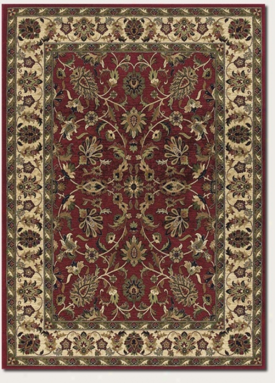 9'8&quot X 13'1&quot Area Rug Persian Floral Figure In Red And Cream