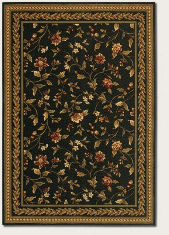9'9&quot X 13'9&quot Area Rug Hand Crafted Vintage Floral Design In lBack