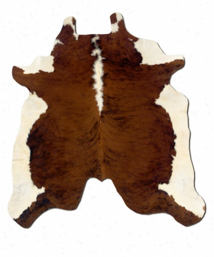 Animal Cowhide Area Rug Full Skin In Dark Brindle