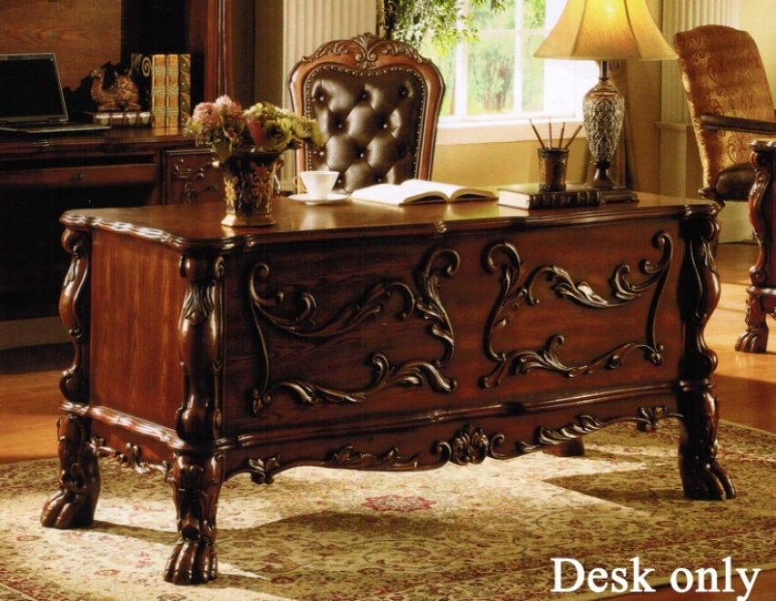 Beautiful Home Office Writing Desk In Cherry Finish