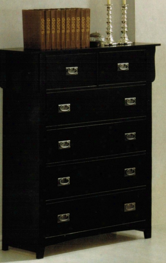Bedroom Chest Contemporary Style In Black Finsih