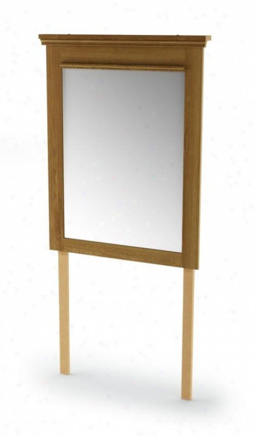 Bedroom Dresser Mirror In Golden Oak Finish