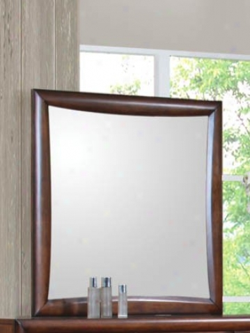 Bedroom Mirror Contemporary Style In Brown Finish