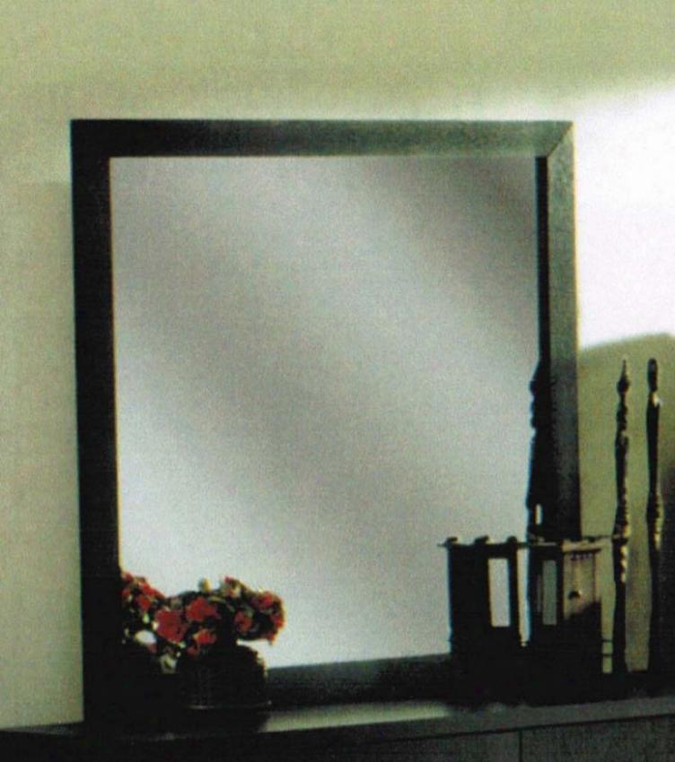 Bedroom Mirror In Black Finish