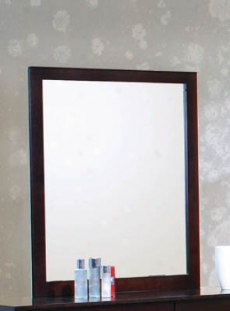 Bedroom Mirror In Deep Funny Cappyccino Finish