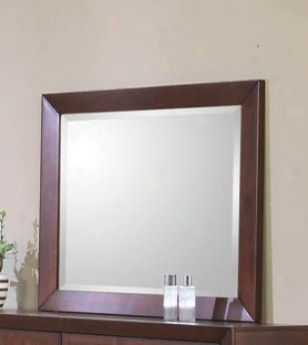 Bedroom Mirror In Rich Brown Perfect
