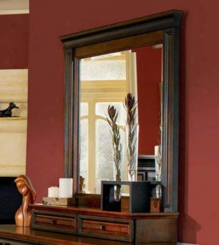 Bedroom Mirror With Storage Drawers In Two-tone Finish