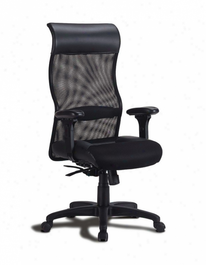 Black Mesh Fabric High Back Full Adjustment Office Chair