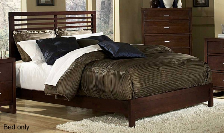 Callf0rnia King Size Bed Slat Design In Cherry Perfect