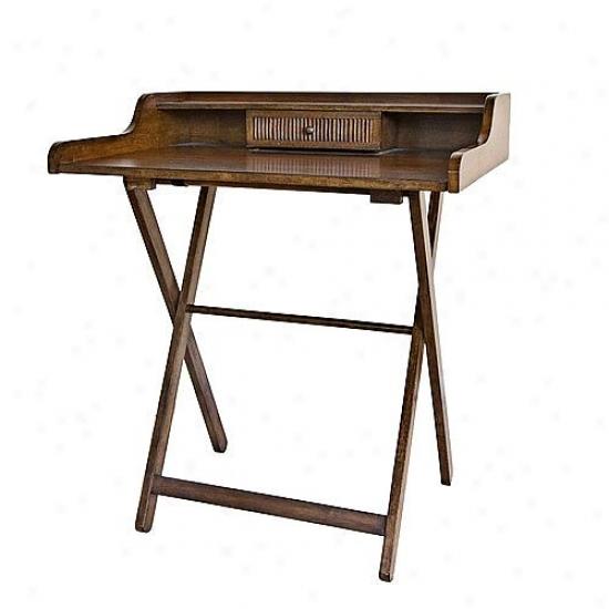 Carolina Cottage Cheestnut Finish Folding Easton Desk