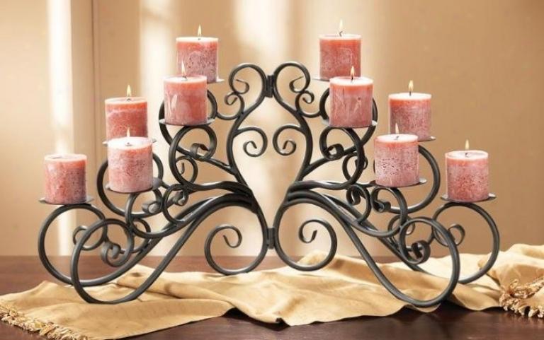 Casa Cristina Candleholder In Matte Black Perfect