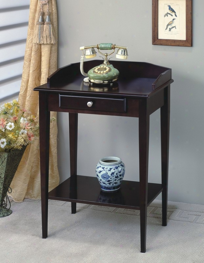 Classic Cappuccino End Phone Abide / Side Table