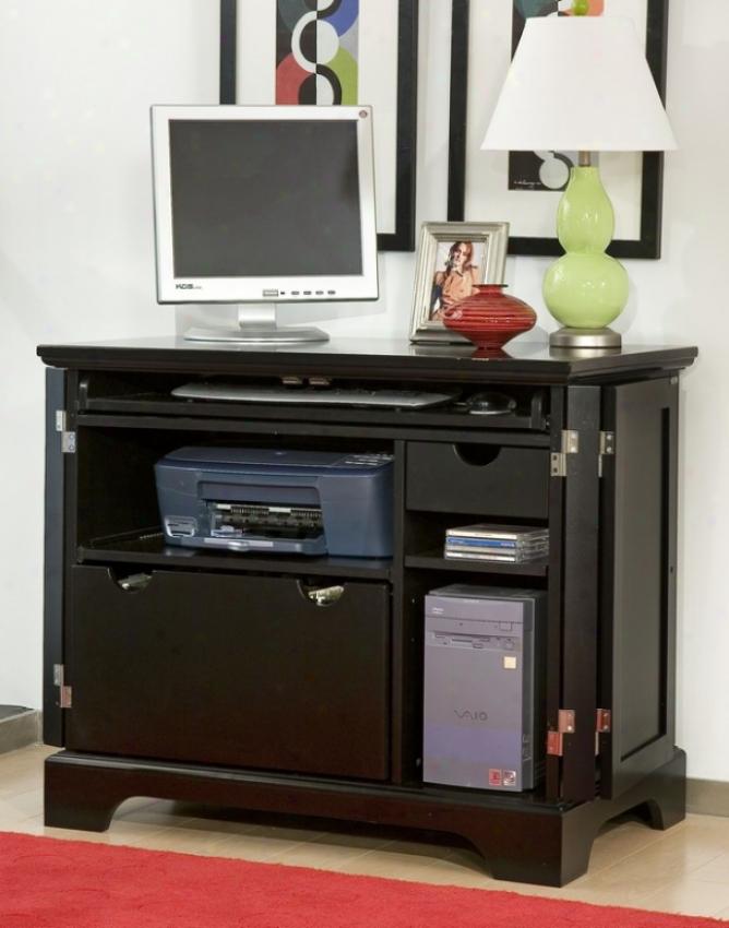 Computer Cabinet Contemporary Style In Ebny Finihs
