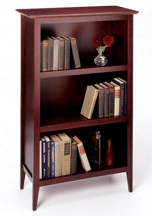 Contemporary Espresso Finish 3-tier Shelf Bookcase