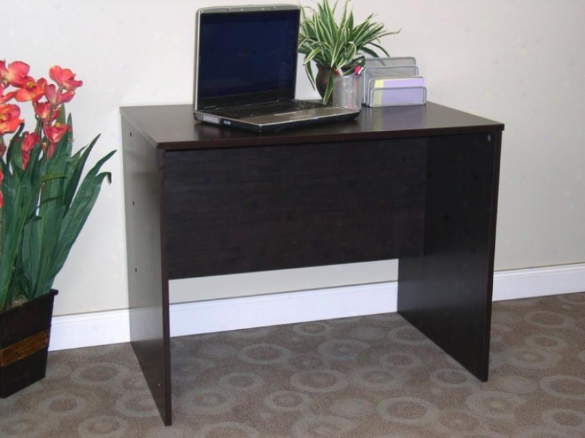 Contemporary EspressoF inish Home Office Desk