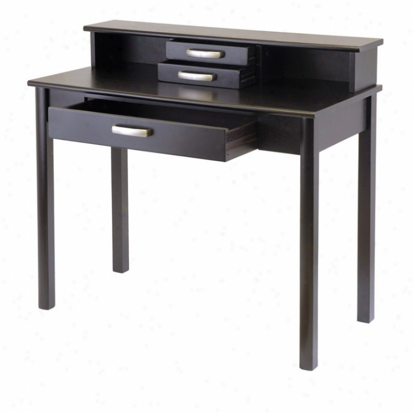 Contemporary Home Place of business Writing Desk Wit hHutch
