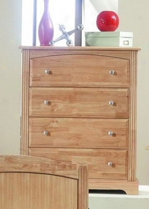 Contemporary Maple Finish Solid Wood Storage Chest