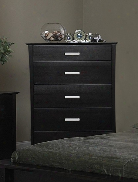 Contemporary Style Cappuccino Finish Solid Wood Chest /dresser