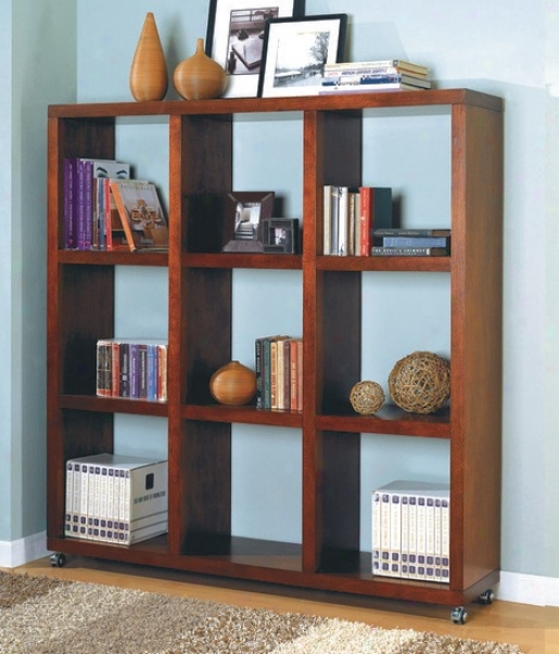 Contemporaryy Diction Mahogany Finish Book Case / Bookshelf