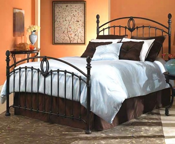 Coronado Tarnished Copper Finish King Size Iron Metal Bed