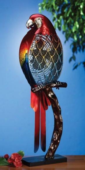 Decorative Table Excite Parrot Figurine Design In Multi Finish