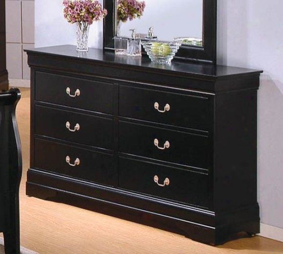 Dresser Louis Philippe Style In Black Finish