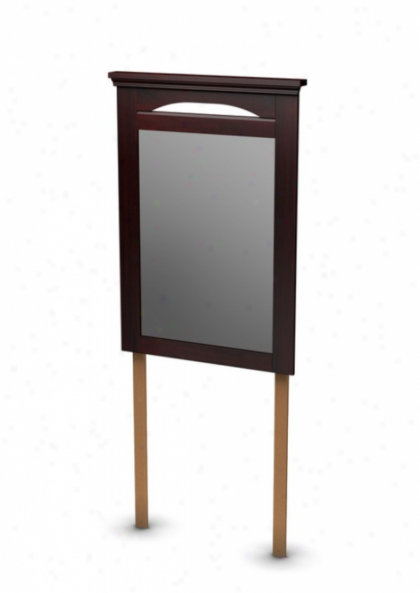 Dresser Mirror Transitional Diction In Dark Mahogany Finish
